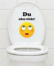 WC Aufkleber - Du schon wieder! Smiley