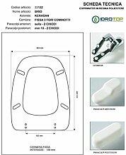 WC Brio Kerasan weiß Reißverschluss chrom