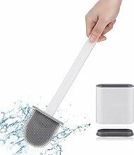 WC-Bürste aus weichem Silikon mit Halter,