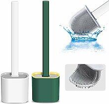 WC-Bürste und Halter aus Silikon für