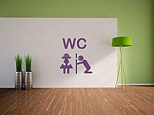 WC mit Guckloch Wandtattoo Format: 300x270 mm_a Wandbild, Wandaufkleber, Wandsticker Dekoration für Wohnzimmer, Schlafzimmer und Kinderzimmer