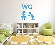 WC mit Guckloch Wandtattoo Format: 600x550 mm_d Wandbild, Wandaufkleber, Wandsticker Dekoration für Wohnzimmer, Schlafzimmer und Kinderzimmer