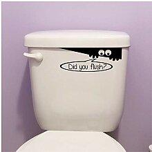 "WC-Monster-Aufkleber ""Did You Flushing"" für"
