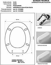 WC Pozzi Ginori aura-piemontesina MB weiß chrom