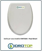 WC Pozzi Ginori Fantasie weiß verchromter