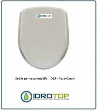 WC Pozzi Ginori Idee weiß verchromter