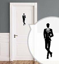 Schwarz Zeroos WC-Schild Toilettenschild Lady in Black selbstklebend S Damen