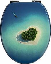 WC-Sitz Dekor Inselparadies , Toilettensitz ,