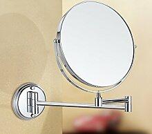 Wc Teleskop kosmetikspiegel bad wandspiegel Falzen vergrößern Kosmetikspiegel, duplex8 Zoll