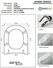 WC Tempo Kerasan weiß Reißverschluss chrom