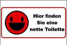 WC / Toiletten Schild -110- Nette Toilette 29,5cm