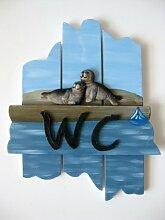 WC Türschild Seehunde Robben maritime Dekoration