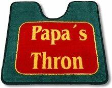 WC Vorleger mit Ausschnitt Papas Thron 50cm