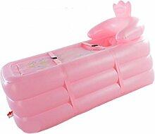 WCUI Aufblasbare Badewanne Verdickung Große Kunststoff Fold Double Einfache Haushalt Kind Erwachsene Paar Bad Badewanne Bad Badewanne Badewanne Fass Badewanne Wählen ( Farbe : Pink )