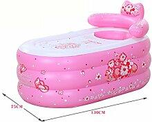 WCUI Aufblasbare Badewanne Verdickung Kunststoff Fold Einfache Haushalt Erwachsene Badezimmer Bad Badewanne Bad Badewanne Badewanne Wählen ( Farbe : Pink , größe : 75*130CM )