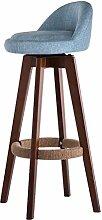 WCUI Bar Hocker Massivholz Bar Stuhl, Restaurant Hocker Kaffeehaus Kaffee Stuhl Hocker Esszimmer Hocker Hochstuhl Haushalt Hocker Stuhl Rückenlehne Esszimmerstuhl Retro Loft 70cm Wählen Sie ( Farbe : #6 )
