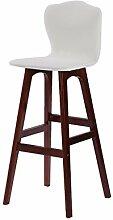 WCUI Bar Stuhl, hohe Rückenlehne Stuhl Bar Hocker Massivholz Woody Kreativ Einfache moderne Mode Salverform Hohe Rückenlehne Bar Convenience Restaurants W42cmxH104cm Wählen Sie ( Farbe : D )