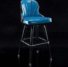 WCUI Bar Stuhl, Kreativ Massivholz Lift Stuhl Bar Stuhl Europäische Stil Bar Stuhl Checkout Zähler Eisen Hocker High Hocker drehen Sessel 44 * 92cm Wählen Sie ( Farbe : A )