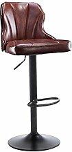 WCUI Bar-Stuhl, kreativer Massivholz-Aufzug-Stuhl-Stab-Stuhl europäischer Art-KTV-Stab-Stuhl-Korruption-Zähler-Eisen-Hocker-hoher Hocker drehen Sessel 40 * 90-110cm Wählen Sie ( Farbe : A )