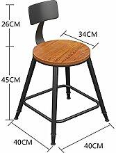 WCUI Bügeleisen Massivholz Bar Hocker Bar Stuhl, Hocker Restaurant Stuhl Empfang Hochstuhl Stuhl Stuhl Stuhl Stuhl Stuhl Moderne Einfache Rundschreiben Wählen Sie ( Farbe : #2 , größe : 45 cm )