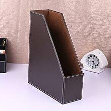 WCUI Büro auf dem Tisch Multifunktions-Multilayer-Datei Regal-Dateien Rack-Datei Bar-Box Storage Rack Wählen ( Farbe : Braun , größe : A )