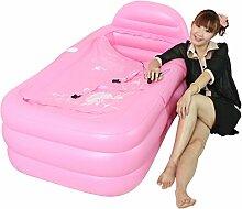 WCUI Falten Sie aufgeblasenen Badewanne Einfache dickere Zunahme Badende Sauna Plastik Badezimmer Badewanne Erwachsene Bad Fässer Waschbecken Wählen ( Farbe : Pink )