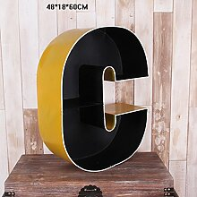 WCUI Iron Finishing Rack, Letter Retro Bar Café Farbe Home Wall Storage Schindel Wählen ( Farbe : C )