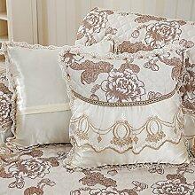 WCUI Kissen klassischen Retro Kissen Home Bedside Sofa Bürokissen Schlafkissen Taille Kissen Wählen ( Farbe : A )