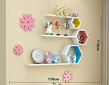 WCUI Kreative Racks, einfache Retro Mode Wohnzimmer Club Mall Walls Lattice Shelf Schrank Hintergrund Wanddekoration Wählen ( Farbe : A )