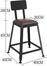 WCUI Massivholz Bar Hocker Bar Stuhl, Empfang Restaurant Stuhl Stuhl Stuhl Stuhl Stuhl Stuhl Stuhl Stuhl Stuhl Stuhl Stuhl Stuhl Stuhl Stuhl Stuhl Stuhl Stuhl Stuhl Stuhl Stuhl Stuhl Stuhl Stuhl Wählen Sie ( Farbe : #1 , größe : 45 cm )