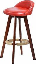 WCUI Massivholz Bar Stuhl, Hocker Bar Stuhl Empfang Stuhl Haushalt Stuhl Hohe Hocker Hochstuhl Retro Einfach Bar Barhocker 73cm Wählen Sie ( Farbe : #7 )
