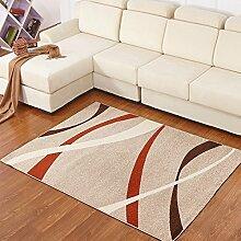 WCUI Moderner einfacher Teppich, Wohnzimmer Sofa Teppich Schlafzimmer Nachttischdecke Couchtisch Fußboden Mats Büro Fußauflage Türmatte Anti-Rutsch-Saugwasser weich überdimensioniert 120 * 170CM Hall Teppich Wählen Sie ( Farbe : #4 , größe : 120*170CM )
