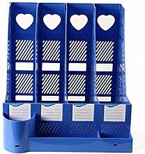WCUI Office auf dem Tisch Office Supplies File Shelf Storage Rack-Datei-Box-Dateien Rack-Datei Bar-Datei Basket Wählen ( Farbe : Blau )