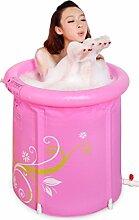 WCUI Pink Printing Foldable Bad Barrel Adult Bad Töpfe Dicker Folder Baumwoll Bad Fässer Inflated Badewanne Dicker Kunststoff Tragbare Bad Box Wählen ( größe : 68*65CM )