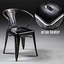 WCUI Retro Esszimmer-Stuhl, kreativer Loft mehrfache Farben Eisen bilden alten Stuhl Metallkaffee-Gaststätte-Dekoration-Eisen-Stab-Stuhl-Aufenthaltsraum-Stuhl 45 * 45 * 78cm Wählen Sie ( Farbe : E )