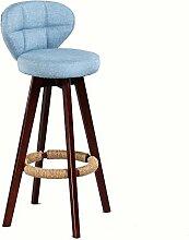 WCUI Retro Massivholz Bar Stuhl, Café Hocker Restaurant Rotierende Hocker Rückenlehne Bar Drehstuhl Kassierer Bar Counter Stuhl Home Furnishing Hochstuhl Wählen Sie ( Farbe : #4 )