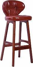 WCUI Retro Massivholz Bar Zähler Stuhl Bar Stuhl Hocker, Bar Hocker Restaurant Stuhl Coffee Shop Haushalt Rückenlehne Hocker 43 * 42 * 100cm Wählen Sie ( Farbe : #3 )