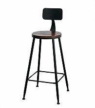 WCUI Retro Massivholz Eisen Die Bar Stuhl Bar