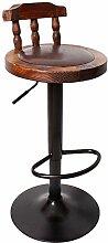 WCUI Retro Massivholz Stuhl Lift Drehen High Hocker, Bar Stuhl Bar Hocker Restaurant Stuhl Esszimmer Hocker Coffee Shop Rückenlehne Hocker Haushalt Tisch Hochstuhl Wählen Sie ( Farbe : #3 )