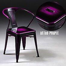 WCUI Retro Speisesaal, kreative Loft Eisen machen alten Stuhl Metall Cafe Restaurant Eisen Bar Stuhl Lounge Stuhl 45 * 45 * 78cm Wählen Sie ( Farbe : F )