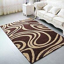 WCUI Rutschfeste Wohnzimmer Teppich, Kaffeematten Study Schlafzimmer Nachttischdecke Fußauflage Türmatten Sofa Teppich Dicker Geometrie Übergroß Wählen Sie (Farbe : #4, Größe : 120*170CM)