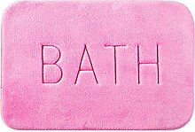 WCUI Schlafzimmer Türmatten Badezimmer-Tür Non - Slip Mat Küchentürmatten Badezimmer-saugfähige Pad Osmanen Wählen Sie ( Farbe : Pink , größe : 38*57CM )