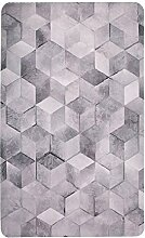 WCUI Teppich, grauer dünner Teppich-Rechteck-Wohnzimmer-Kaffee-Tabellen-Auflagen-Hauptdekoration Teppich-Fußmatte-Badezimmer-rutschfester Teppich-Schlafzimmer-Nachttisch-Teppich-Tabellen-Stuhl-Matte Fußmatte-Büro-Balkon-Teppich 150-180cm Wählen Sie ( Farbe : #4 , größe : 120*180CM )