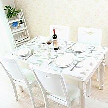 Wcui Wasserdichte Tischdecke, PVC Tischset Glas Plastik Tischdecke Esstisch Schreibtisch TV Schrank Tischdecke Soft Tischset Glas Tisch Tischset Restaurant Cafe Tischdecke Länge 60-150cm Schlaf ( Farbe : Weiß , größe : 90*150cm )