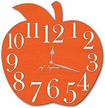 WCZZH Süße Apple Clock Hübsche Hölzerne