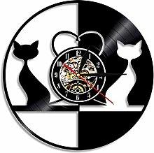 WCZZH Vintage Design Liebe Katzen Beleuchtet