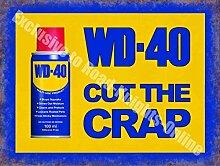 WD-40 Vintage Garage Werbe Öl Auto Fahrrad Schuppen Wand Metall / Stahl Wandschild - 15 x 20 cm