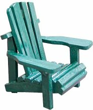 WD Holz Miniatur klein Adirondack Stuhl mit Grün