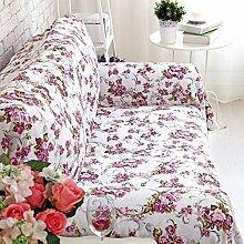 WDBS Baumwolle Leinwand decken Sofa Handtuch kontinentale Bereiche Rutschen Sand Haar bedeckt Sofa Stoff Servietten , 180*260cm