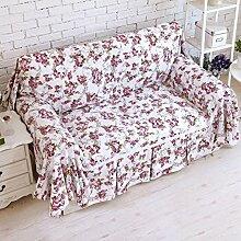 WDBS Baumwolle Leinwand decken Sofa Handtuch kontinentale Bereiche Rutschen Sand Haar bedeckt Sofa Stoff Servietten , 180*200cm